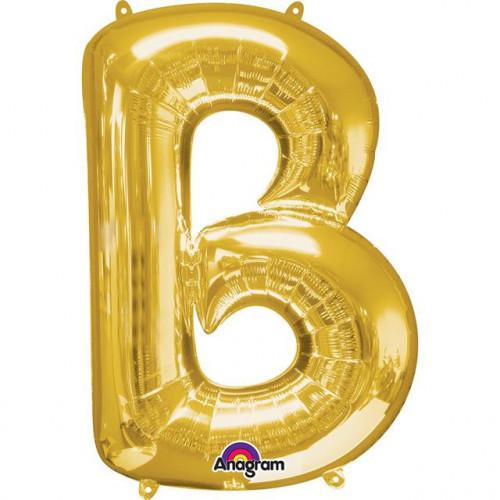 "16"" FOIL 'B' GOLD BALLOON"