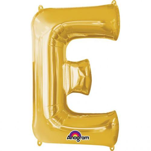 """16"""" FOIL 'E' GOLD BALLOON"""