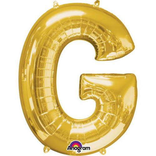 """16"""" FOIL 'G' GOLD BALLOON"""