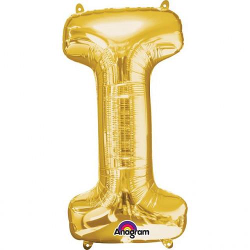 "16"" FOIL 'I' GOLD BALLOON"