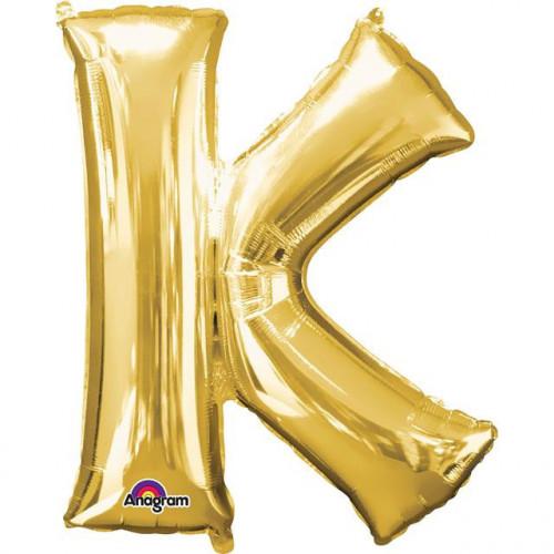 "16"" FOIL 'K' GOLD BALLOON"
