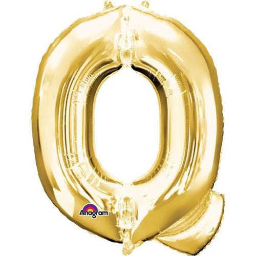 """16"""" FOIL 'Q' GOLD BALLOON"""