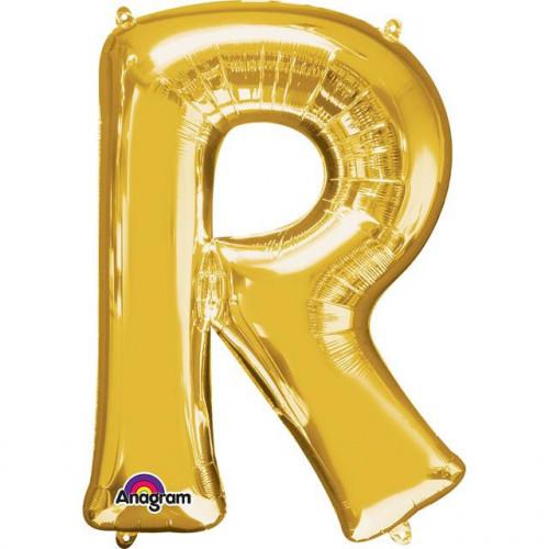 """16"""" FOIL 'R' GOLD BALLOON"""