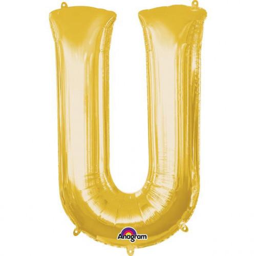 "16"" FOIL 'U' GOLD BALLOON"