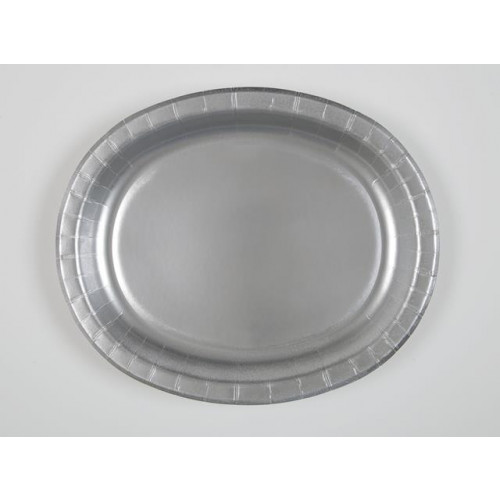 8 SILVER OVAL PLATES