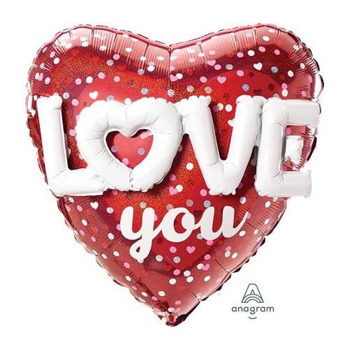3419001 Multi Ball Love Hearts