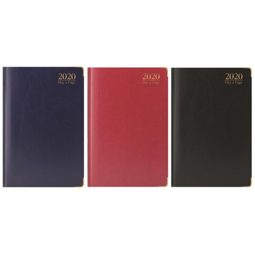 A5 DIARY PADDED GILT EDGED WITH METAL CORNERS DAP
