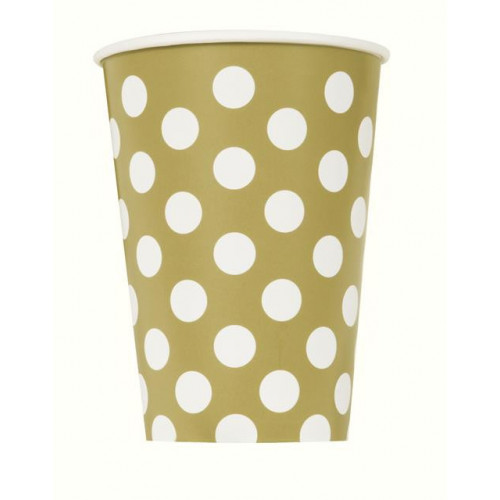 6 GOLD DOT 12OZ CUP