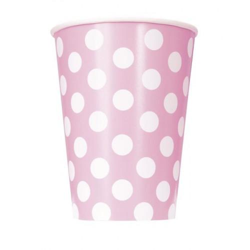 6 LOVLEY PINK DOT 12OZ CUP