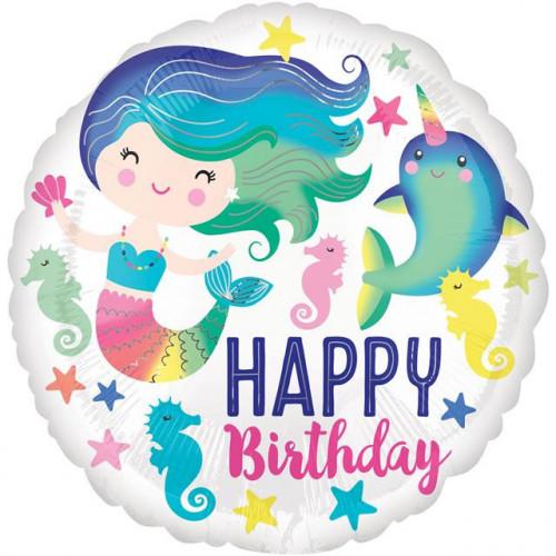 "18"" Sealife Happy Birthday"