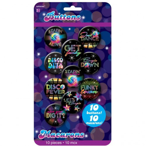 70's Disco Buttons
