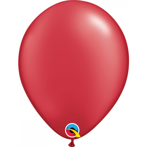 "11"" Pearl Ruby Red Pk25 Latex"