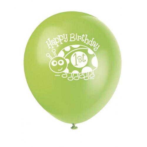 "8 12"" FIRST BIRTHDAY LADYBUG BALLOON"