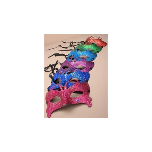 Mask / Brightly coloured glitter masquerade mask.