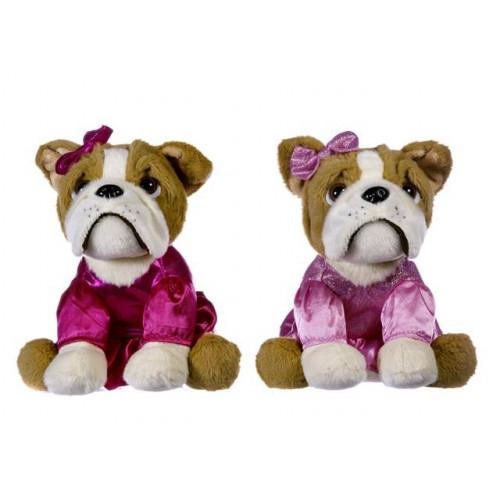 """Plush 8"""" Sitting Bulldog"""