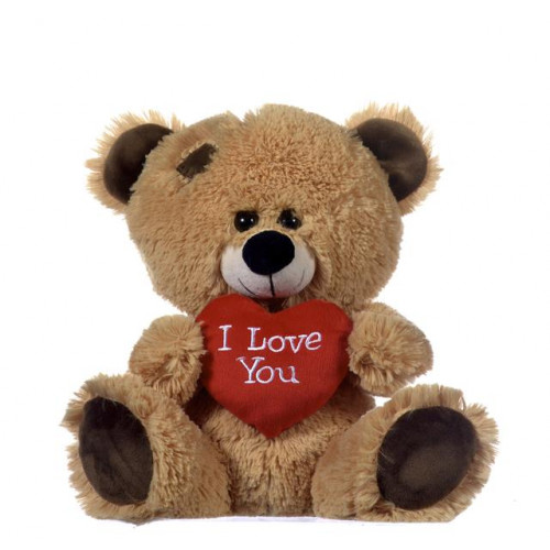 """17"""" Brown Bear With Red Heart"""