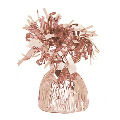 FOIL BALLOON WEIGHT-ROSE GOLD