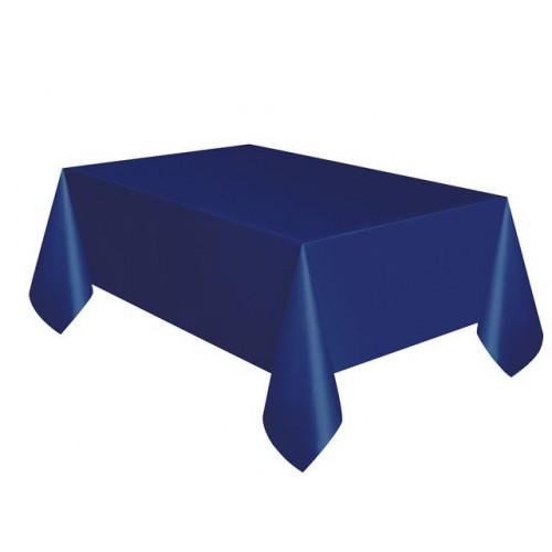 TRUE NAVY BLUE PLASTIC TABLECOVER 54X108