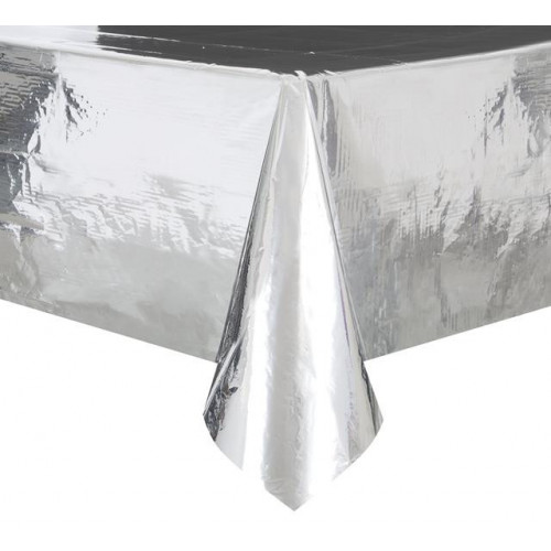 SILVER FOIL TABLECOVER 54X108