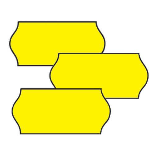 Yellow Labels For 26x12