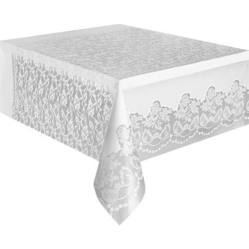 WHITE LACE BASIC TABLECOVER