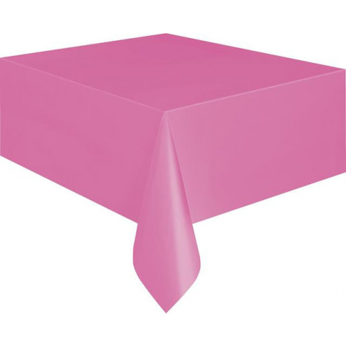 "HOT PINK TABLECOVER 54X108"" 12 PIECES"