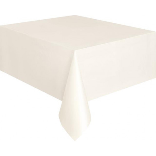 """IVORY TABLECOVER 54X108"""" 12 PIECES"""