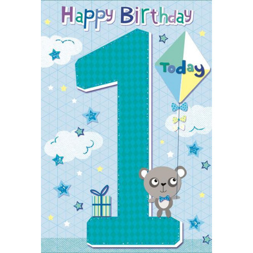 PK6 C50 CARDS GREETINGS STOCK CONTROL AGE 1 BOY