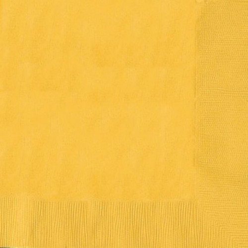 DINNER NAPKINS 20 YELLOW SUNSHINE - 2PLY 12 PIECES