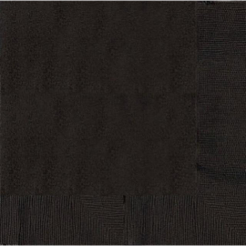 DINNER NAPKINS 20 JET BLACK - 2PLY 12 PIECES