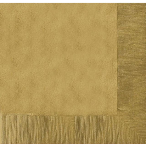 DINNER NAPKINS 20 GOLD - 2PLY