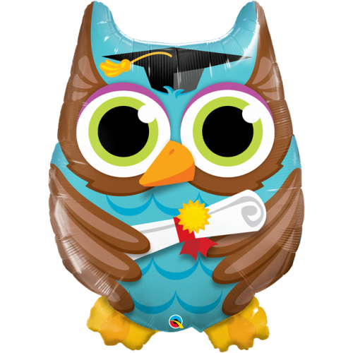 """34"""" Graduation Owl Supershape"""