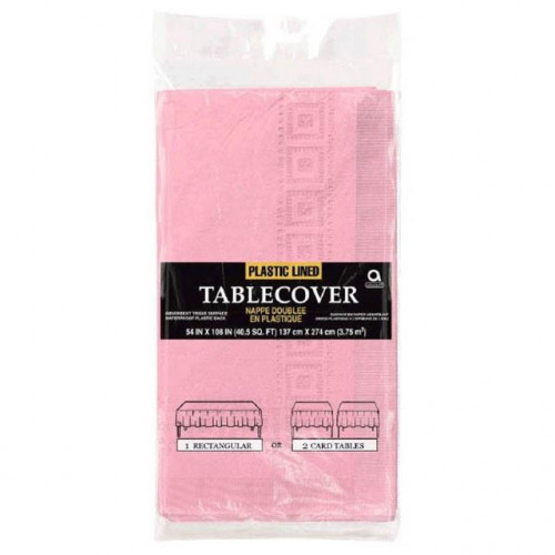 TABLECOVER EMBOSSED NEW PINK 6 PIECES