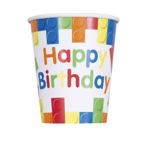 8 BUILDING BLOCKS BIRTHDAY 9OZ CUP