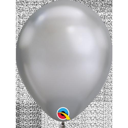 """11"""" Chrome Silver Pk100 Latex"""