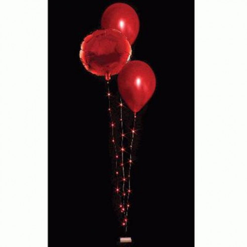DÉCORS BALLOONLITE BOUQUET 3 WIRE 30 LED LIGHTS RED