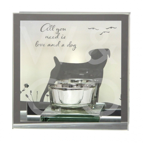 REFLECTIONS OF THE HEART MIRROR T LITE - LOVE & A DOG