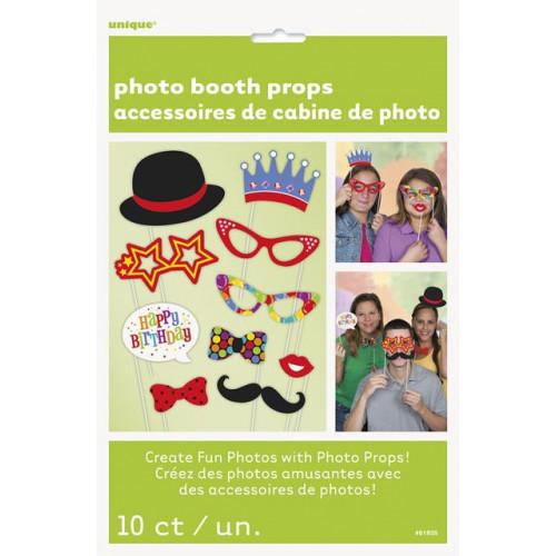10 CONFETTI BIRTHDAY PHOTO PROPS