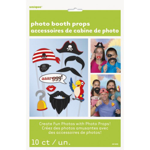 10 PIRATE PHOTO PROPS