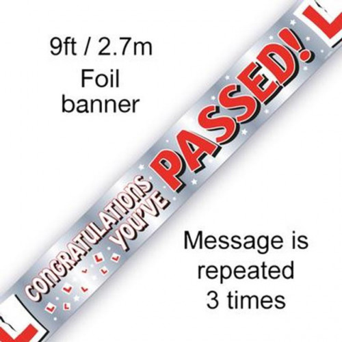 9FT BANNER YOU'VE PASSED