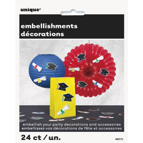 24 CAP & SCRLLS PARTY EMBELISHMENTS