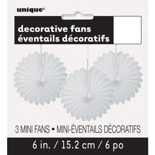 "3 DECOR FAN 6"" WHITE"