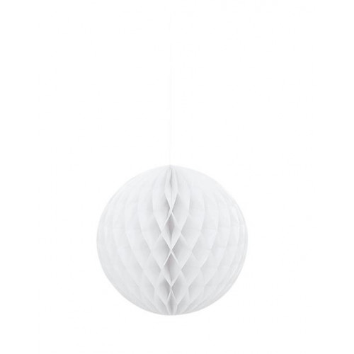"HONEYCOMB BALL 8"" WHITE"