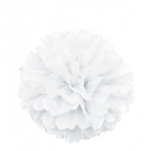 "PUFF DECOR 16"" WHITE"