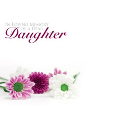 Large Cards ILM Of A Dear Daughter