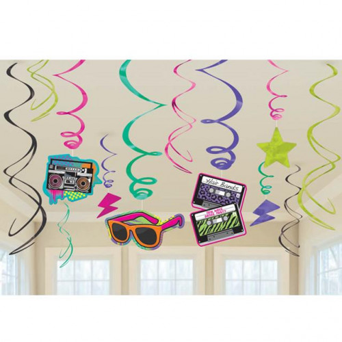 VALUE PACK SWIRL DECORATION TOTALLY 80 S