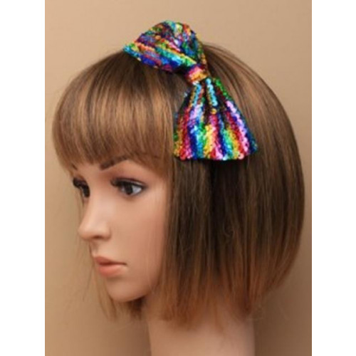 Sequin Bow On Aliceband