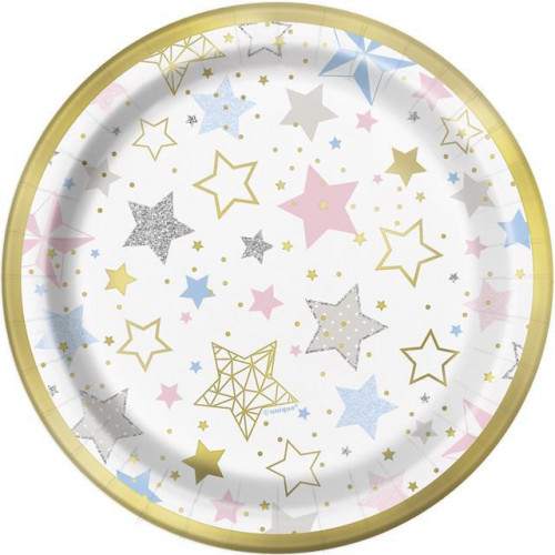 """8 TWINKLE LITLLE STAR 7"""" PAPER PLATES"""
