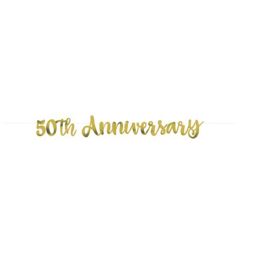 GOLD SCRIPT 50TH ANNIVERSARY BANNER