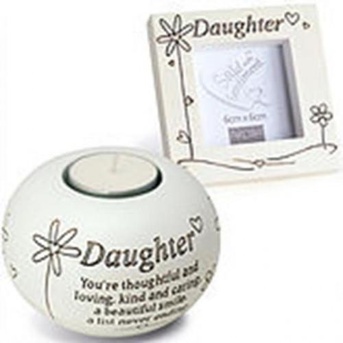 Daughter Tealight & Frame Gift Set